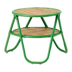 Konferenčný stolík s použitím materiálov dreva a kovu