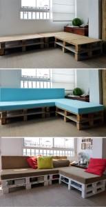 Paletový gauč